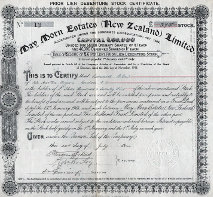 Maymorn Estates Stock Certificate